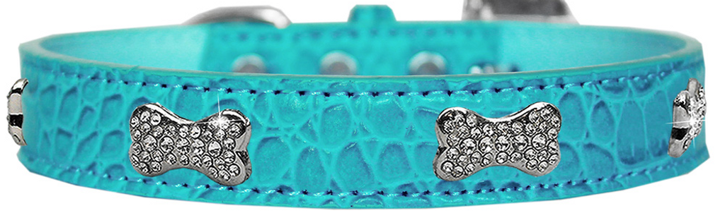 Croc Crystal Bone Dog Collar