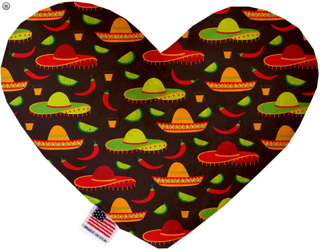 Sombreros Heart Dog Toy