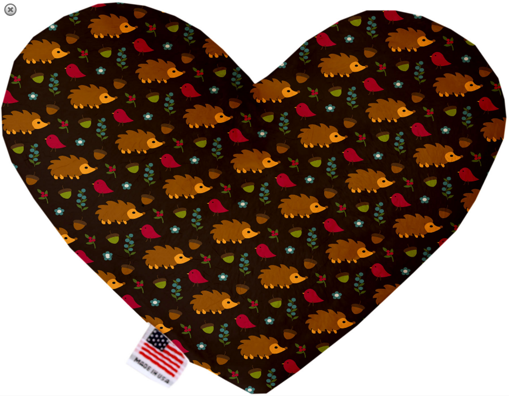 Hedgehogs Heart Dog Toy