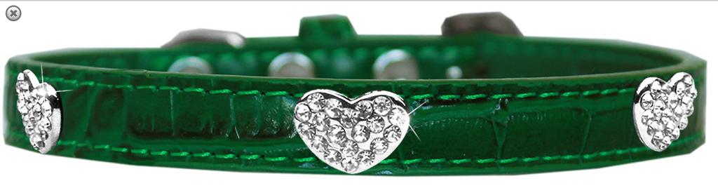 Croc Crystal Heart Dog Collar