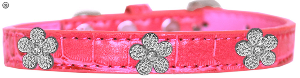 Copy of Black Bone Widget Croc Dog Collar