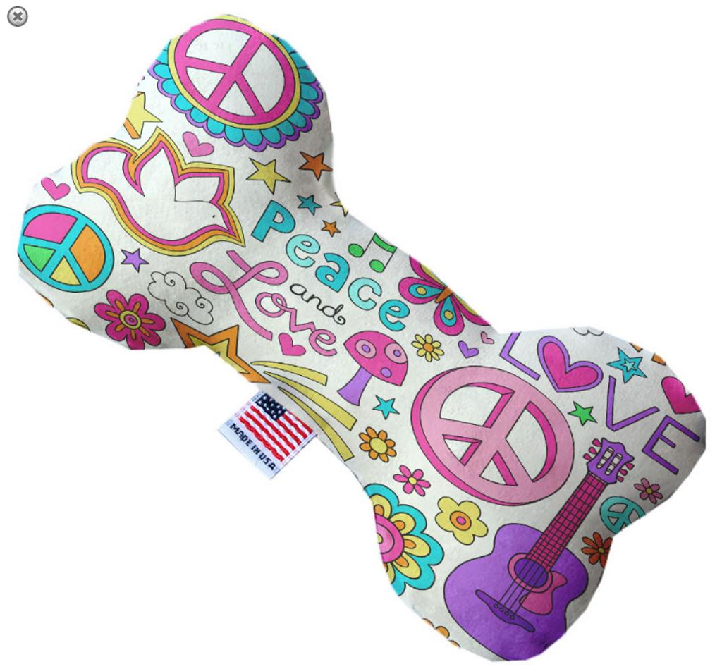 Hippy Love Bone Dog Toy
