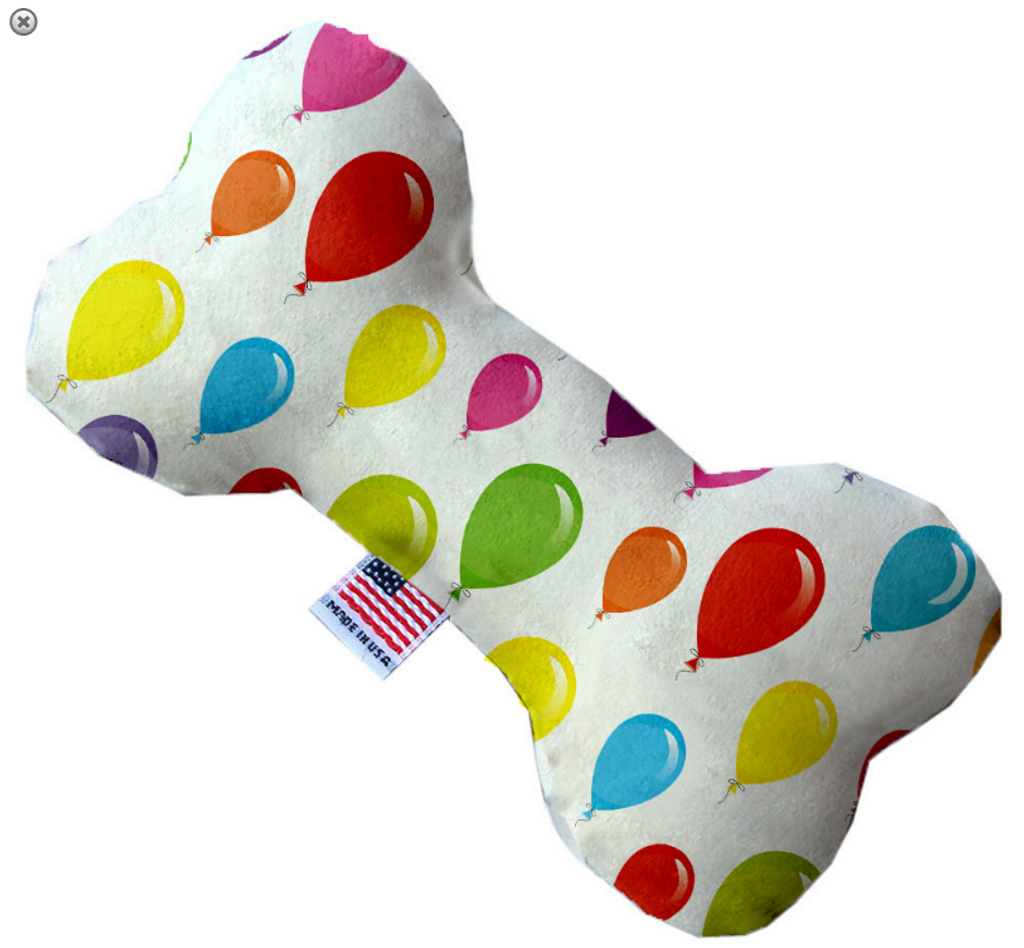 Balloons Bone Dog Toy