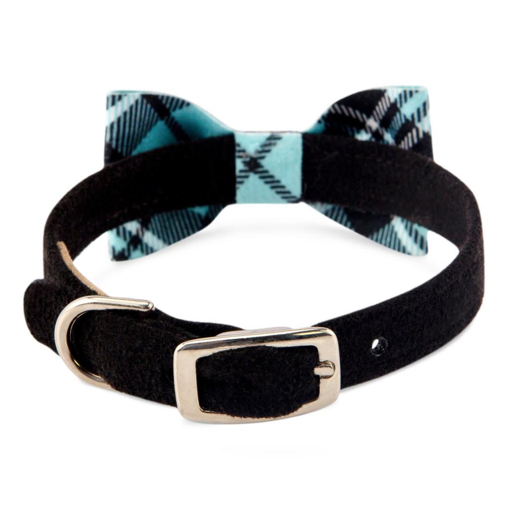 Scotty Furberry Tiffinye Blue Plaid Bow Tie Dog Collar 2