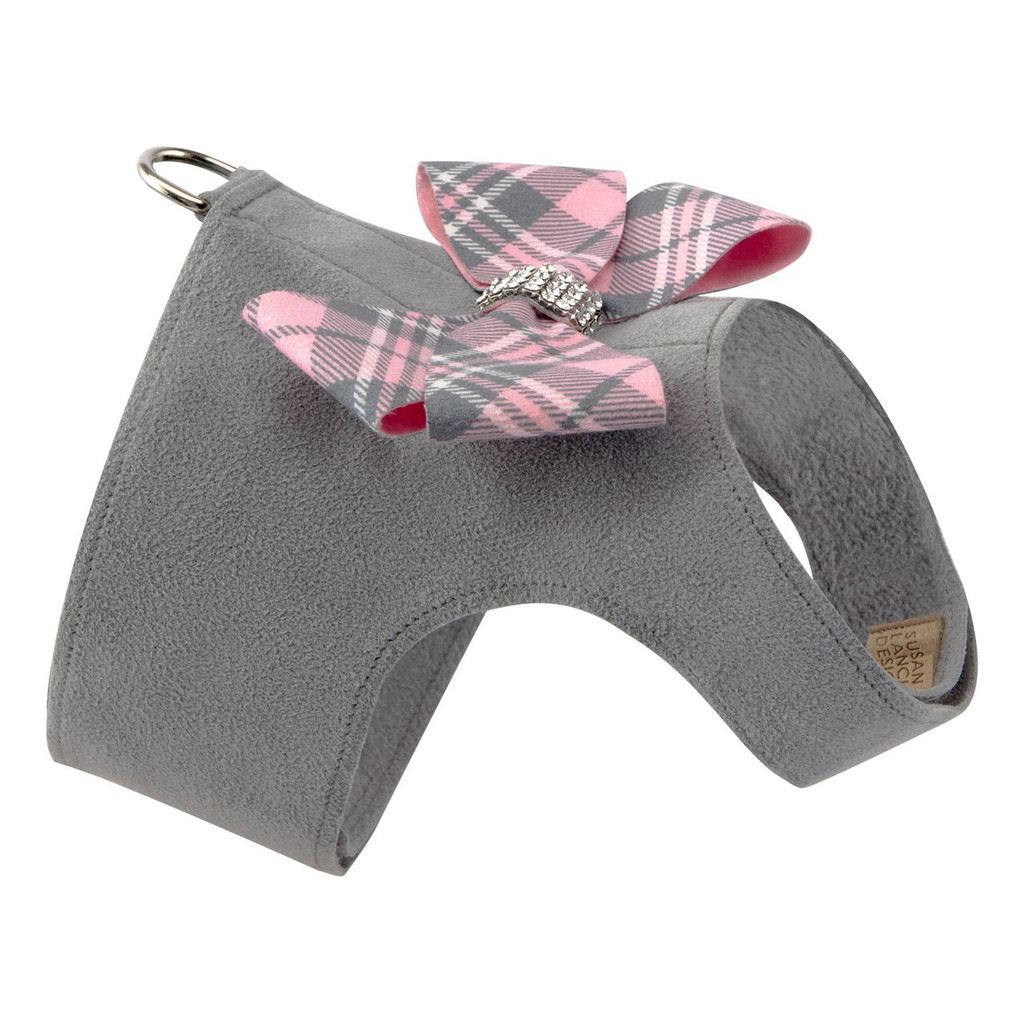 Scotty Furberry Pink Plaid Nouveau Bow Bailey Harness