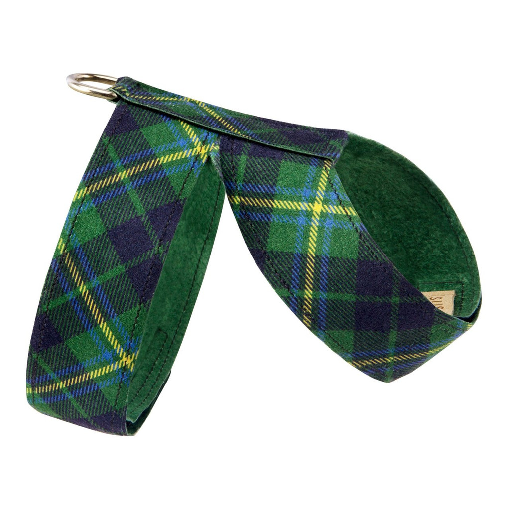 Scotty Furberry Green and Blue Plaid Tinkie Harness