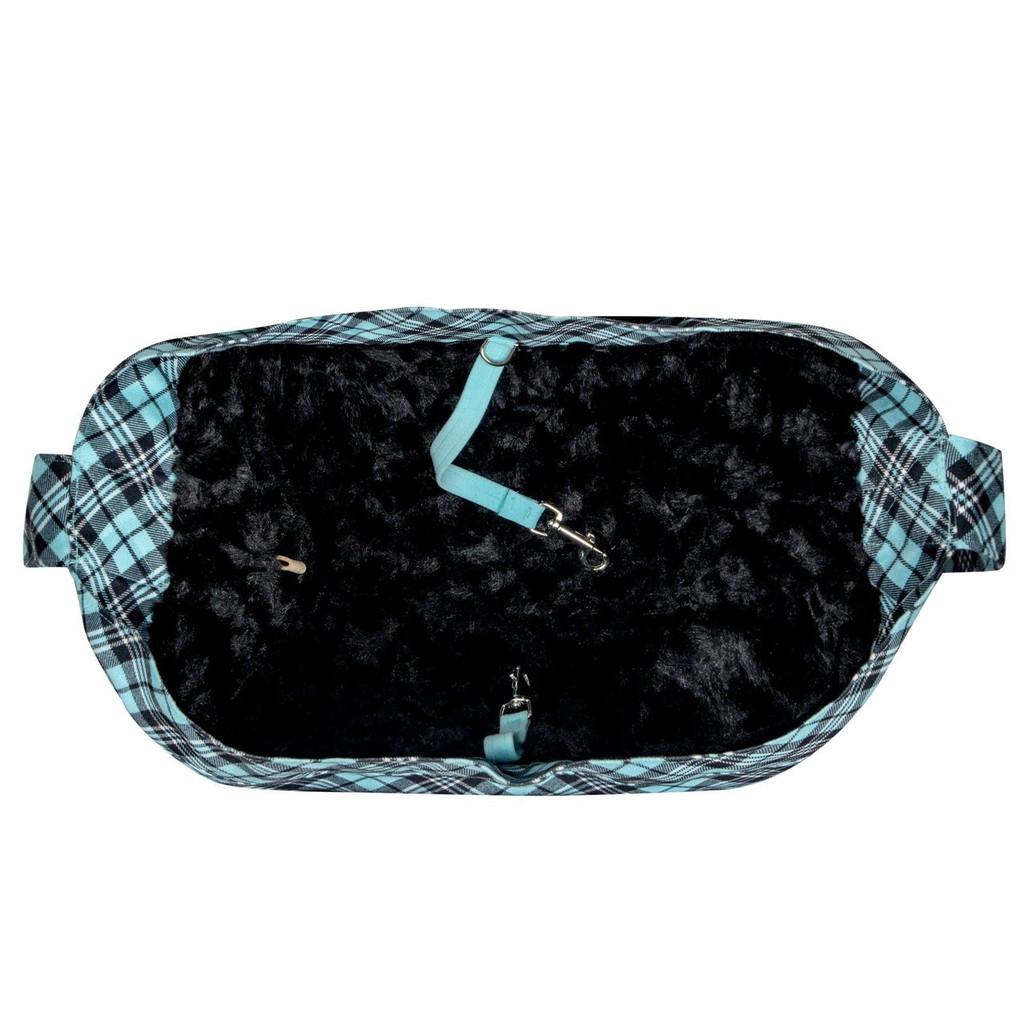 Scotty Furberry Tiffinye Blue Plaid Cuddle Carrier 2