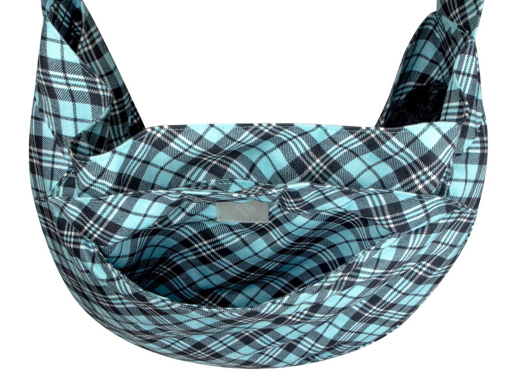 Scotty Furberry Tiffinye Blue Plaid Cuddle Carrier 3