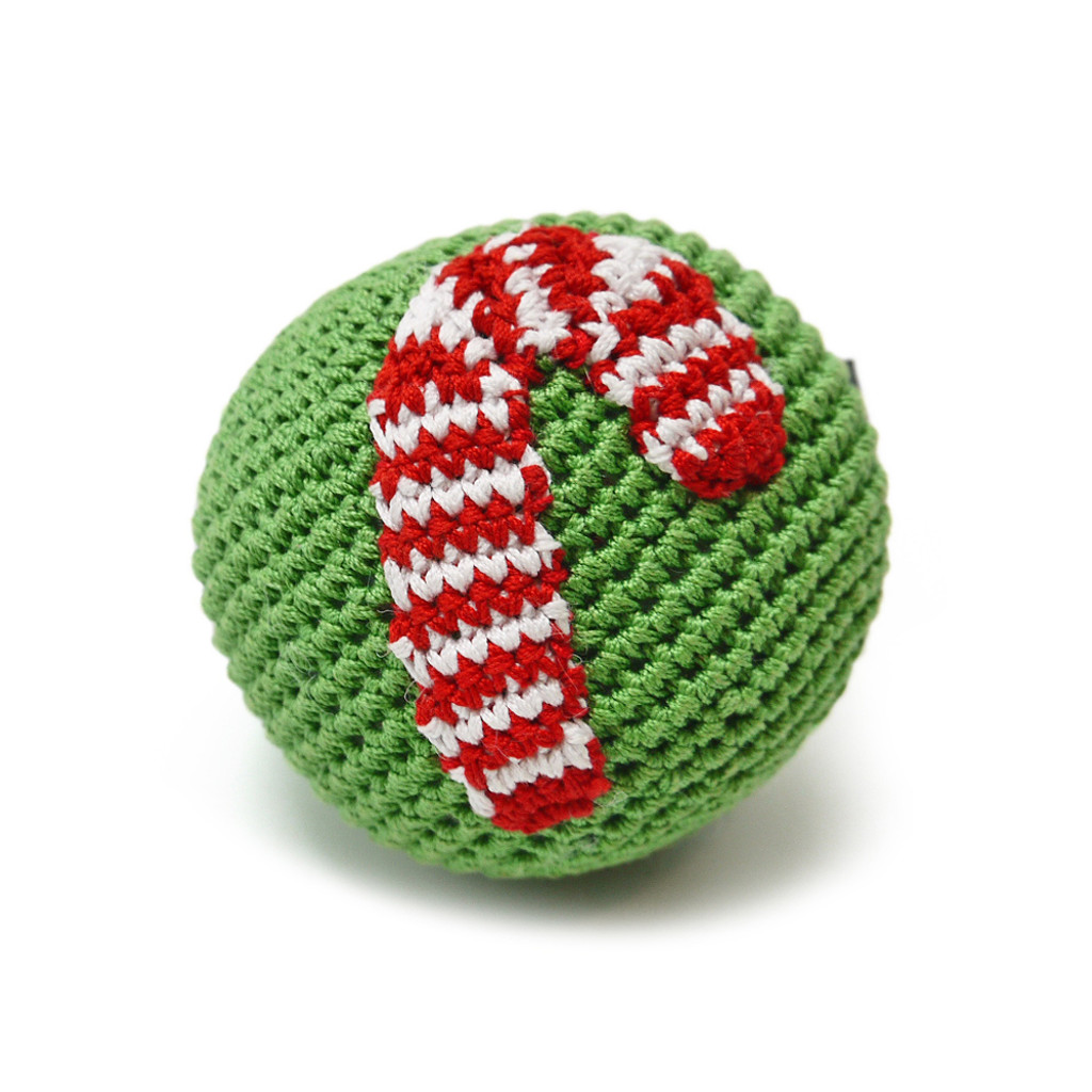 Candy Cane Christmas Ball Toy