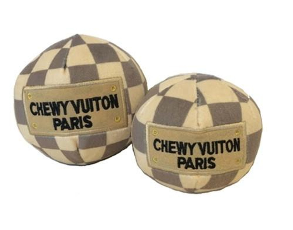 Checker Chewy Vuiton Toy Ball