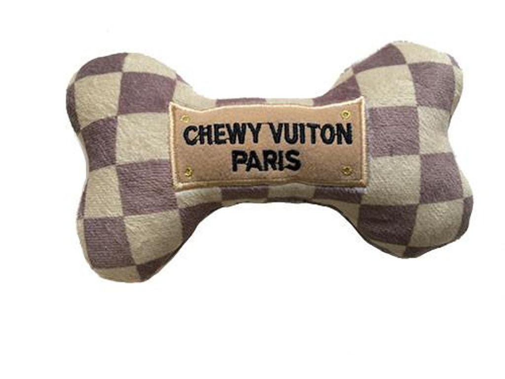 Checker Chewy Vuiton Bone Toy 3