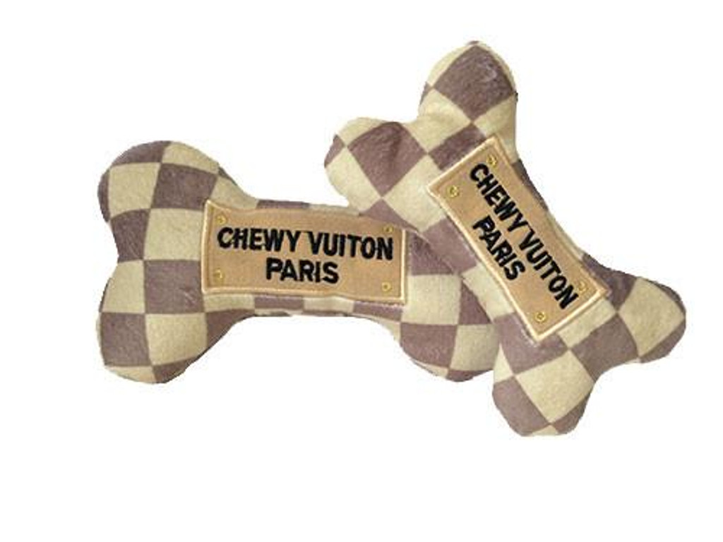 Checker Chewy Vuiton Bone Toy 2
