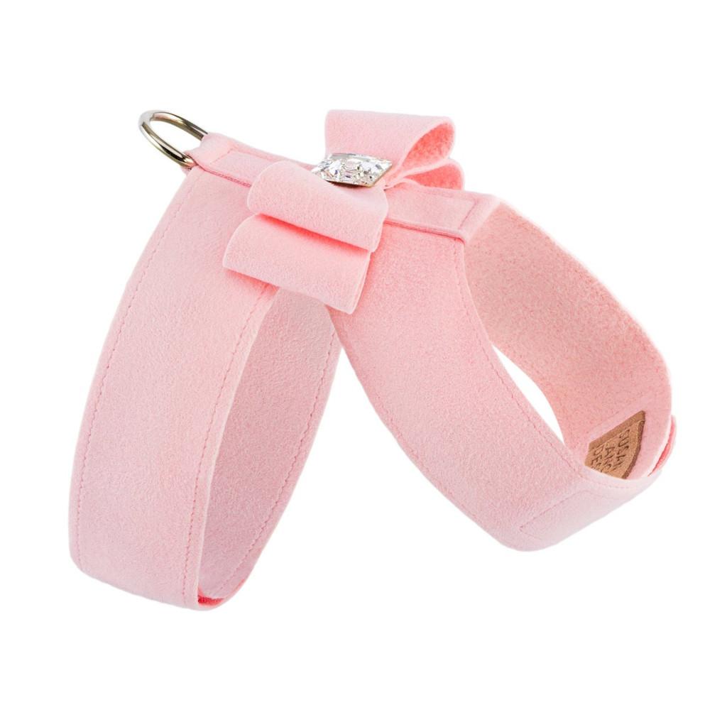 Luna Bowtique Tinkie Soft Pink Big Bow Harness 2