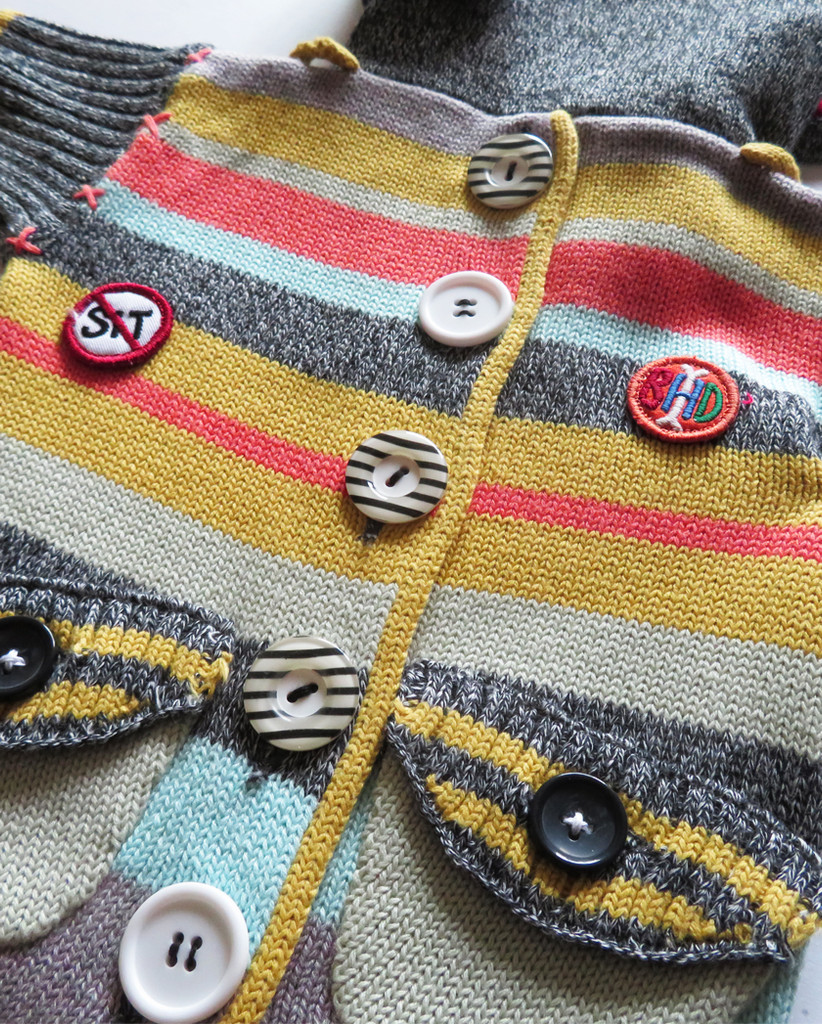 Sock Monkey Multi Color Sweater 4