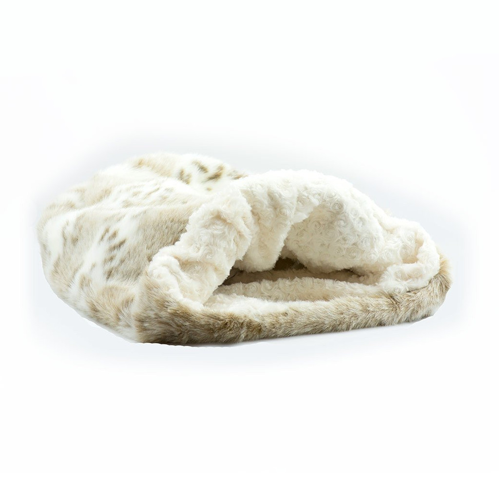 Artic Snow Cuddle Sak with Ivory Curly Sue Lining