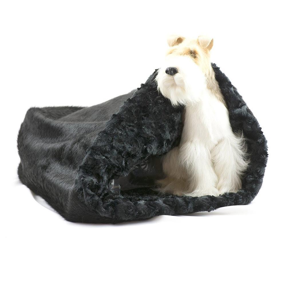 Black Cuddle Sak with Black Curly Sue Lining