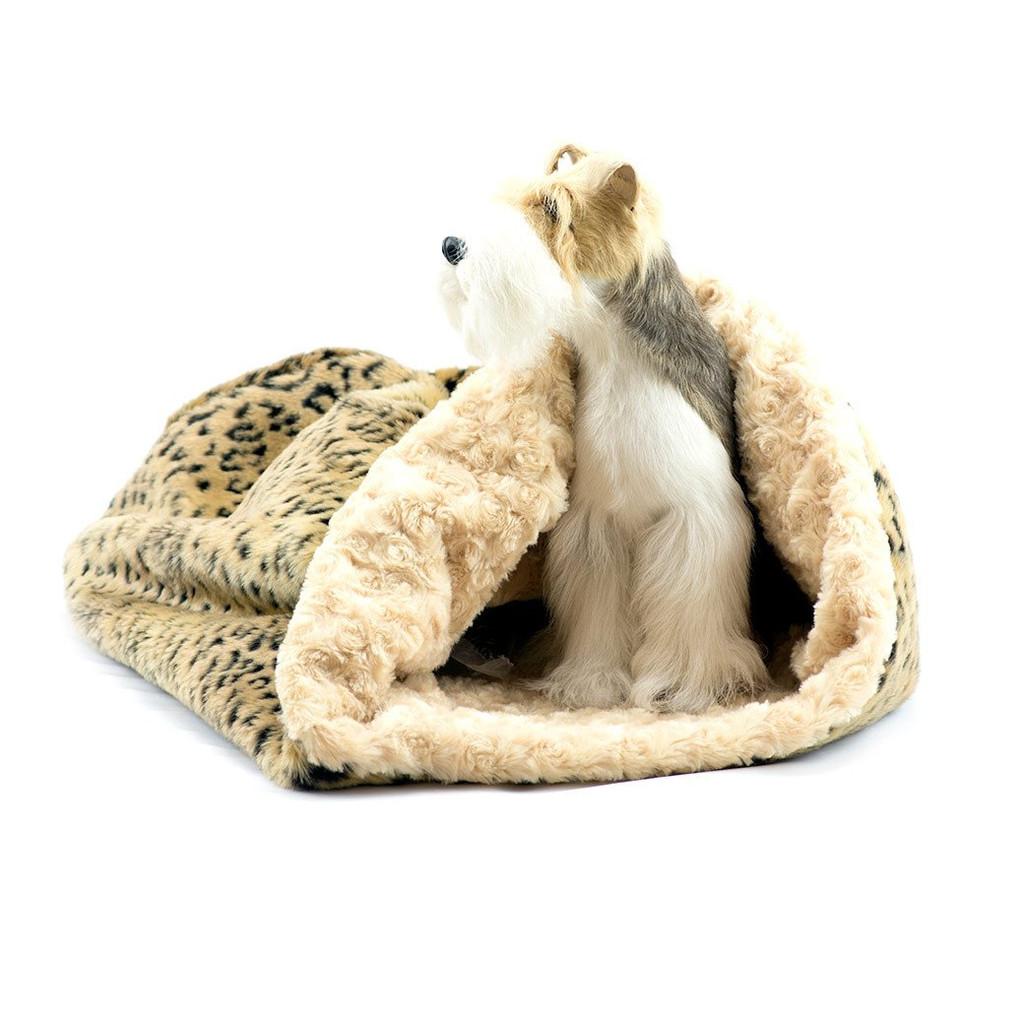 Camel Lynx Cuddle Sak with Camel Curly Sue Lining