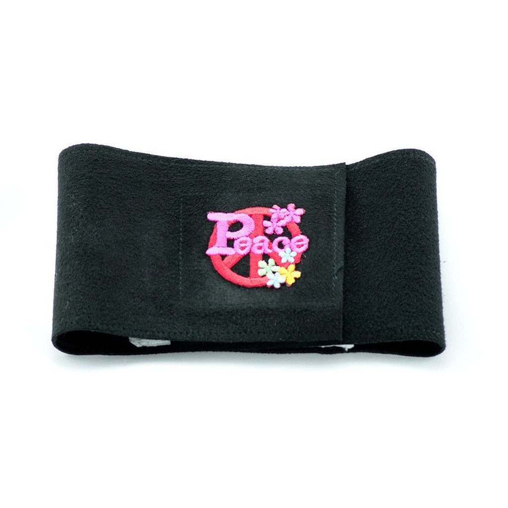 Black and Pink Peace Symbol Wizz Band