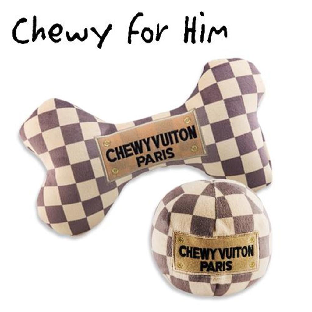 Keep Calm & Chewy Vuiton (Checker) Plush Toys Pack