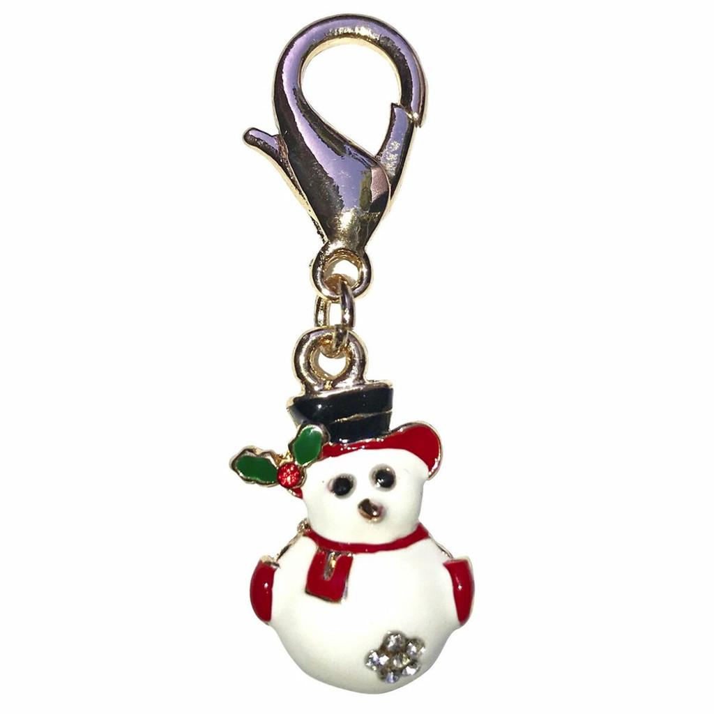 Snowman Dog Collar Charm