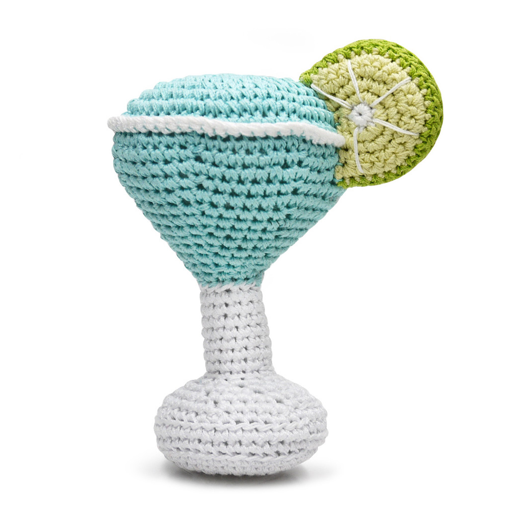 PAWer Squeaky Margarita Crochet Toy