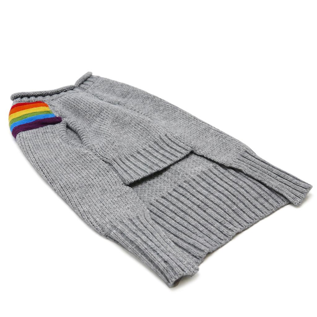 Rainbow Turtleneck Sweater