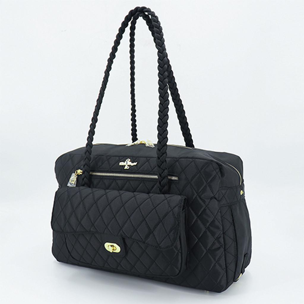 Porsha Dog Carrier: Black