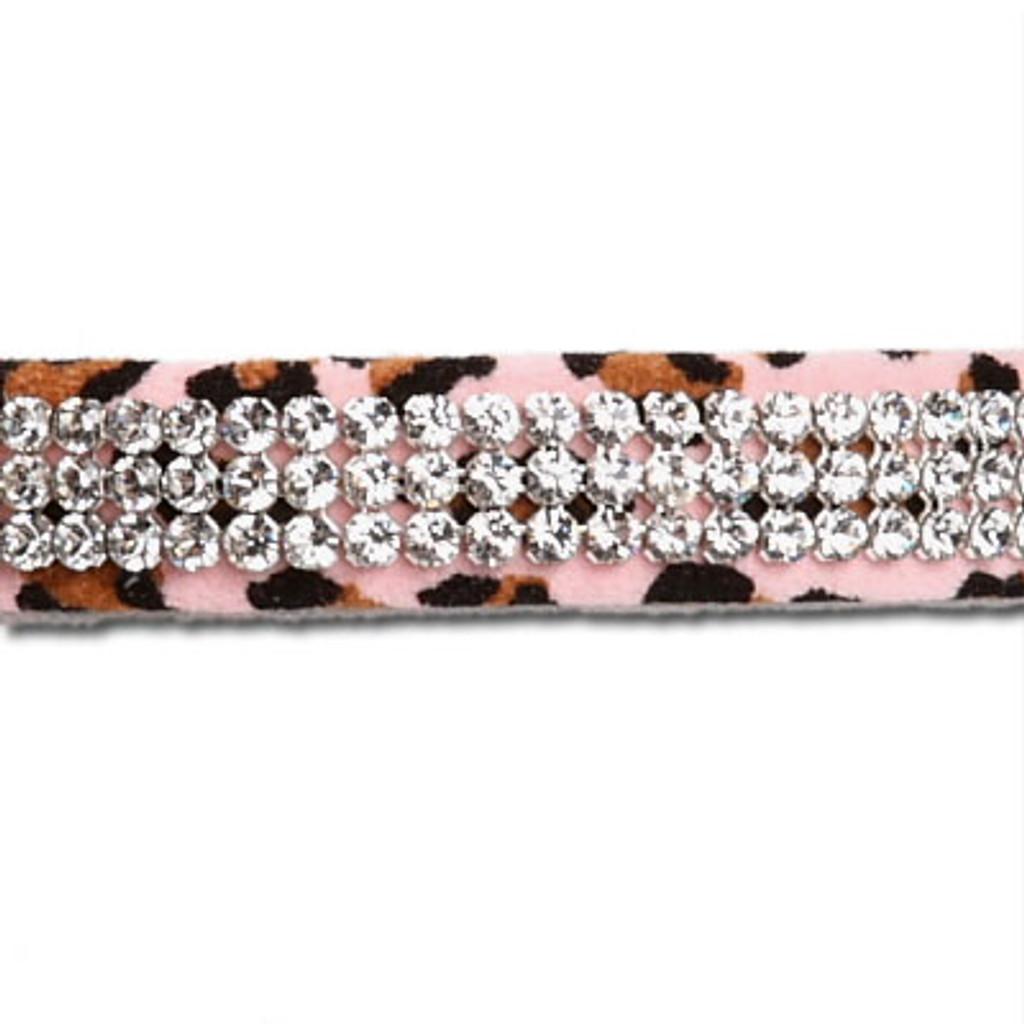 Pink Cheetah Couture 3 Row Giltmore Collar