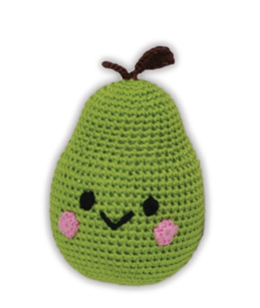 Fruit - Knit Knacks - Organic Cotton Crocheted Toys - Bartlett Pear