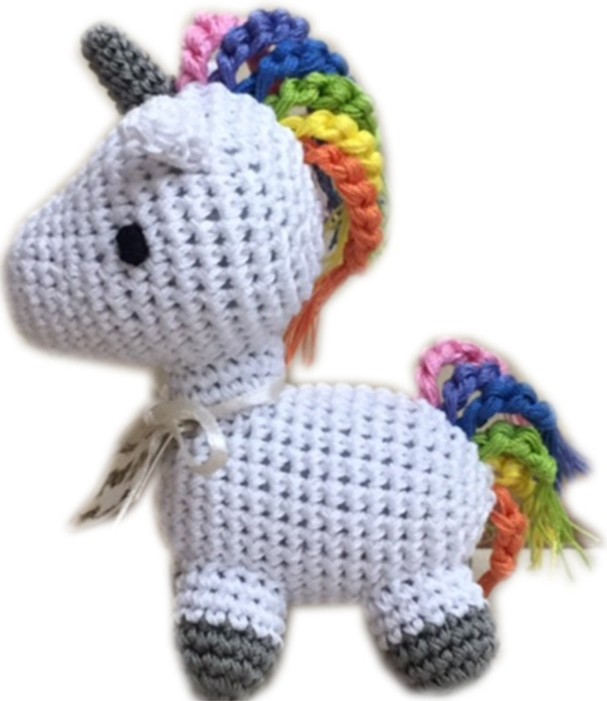 Magical Collection- Knit Knacks-Organic Cotton Small Dog Toy - Mystic the Magic Unicorn