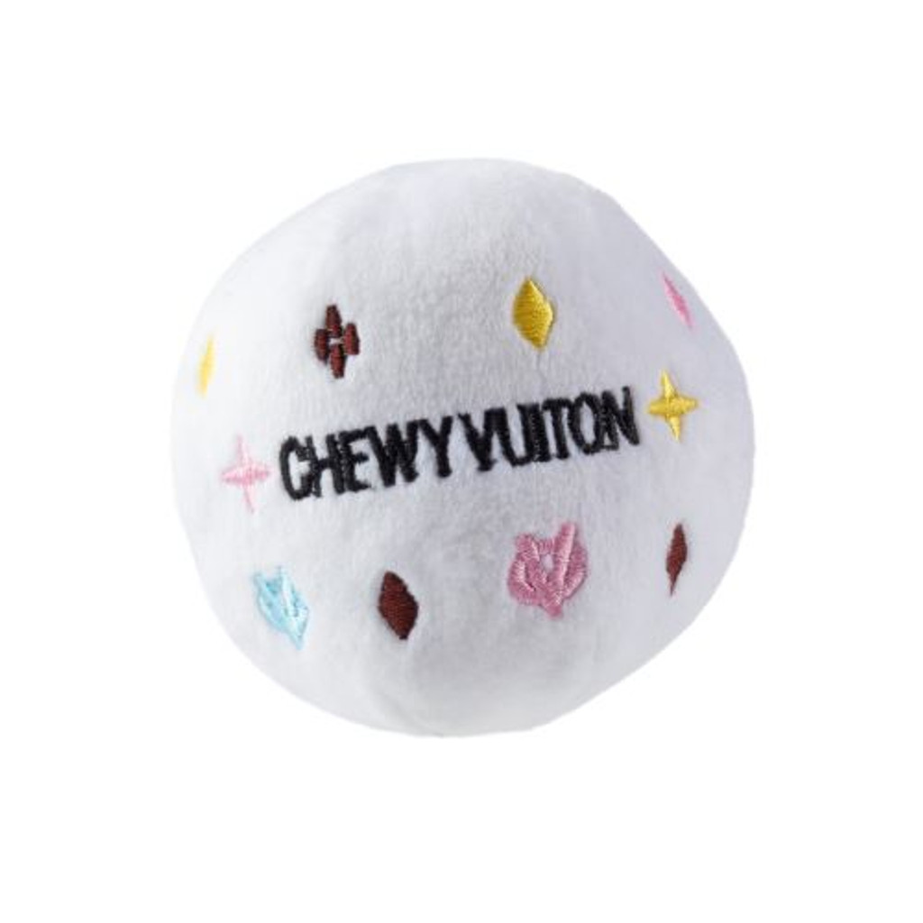 White Chewy Vuiton Ball