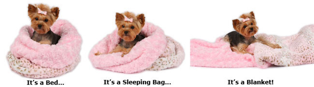 Pink Lynx with Puppy Pink Curley Sue Cuddle Cup