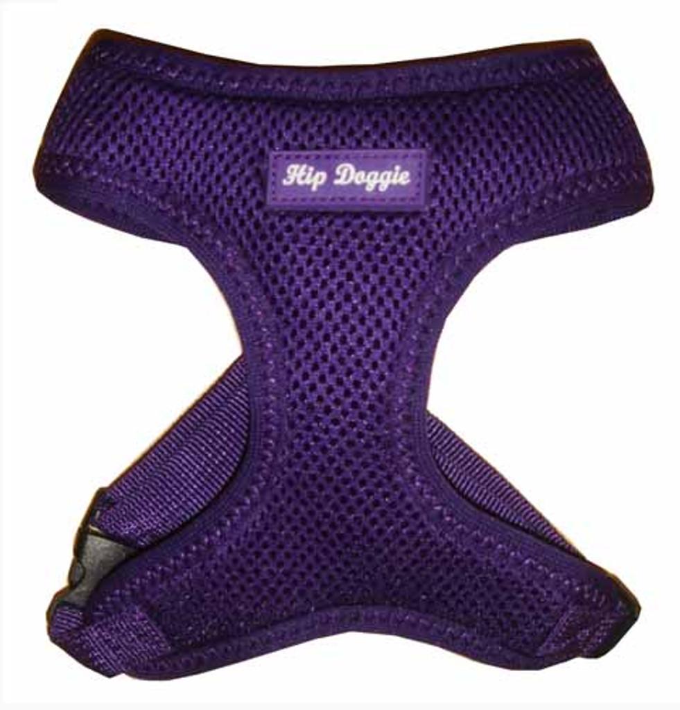 Hip Doggie Ultra Comfort Purple Mesh Harness Vest