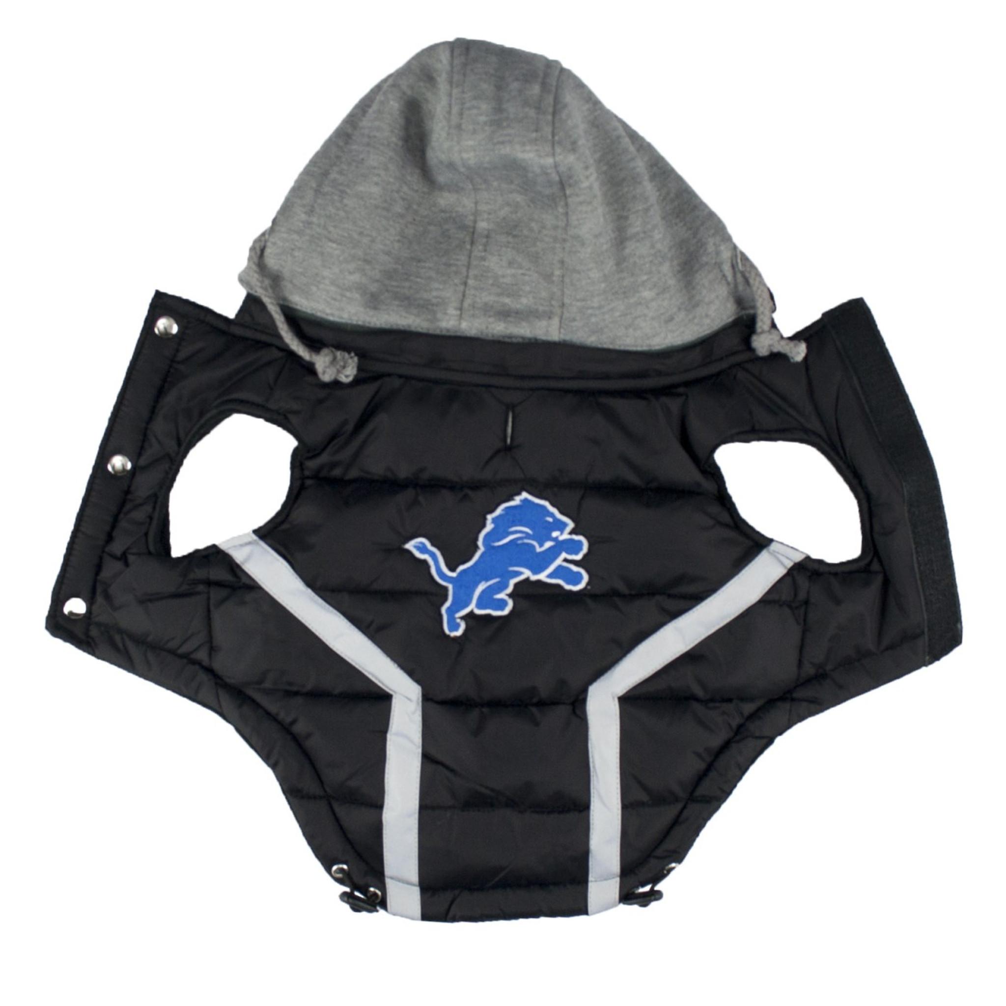 Hip Doggie Detroit Lions Dog Puffer Vest - Free Shipping 4b07f7c3f