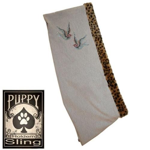 Tan Pinstripe Sling