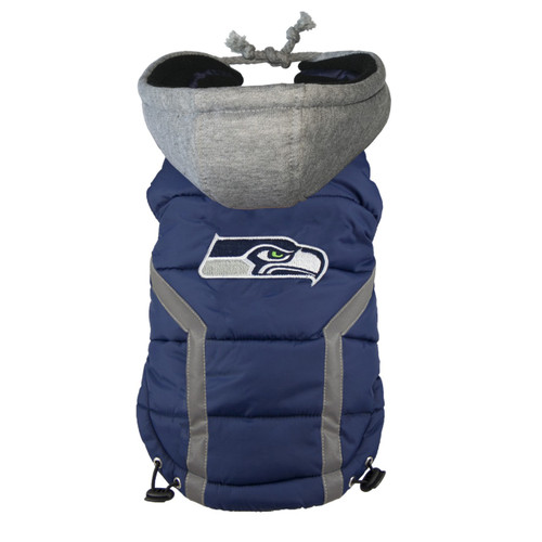 NFL Seattle Seahawks Dog Puffer Vest