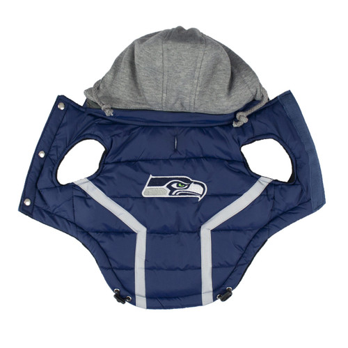 Hip Doggie Seattle Seahawks Dog Puffer Vest