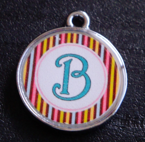 Daydream Stripes Pet ID Tag w/ Pet's Name or Initial