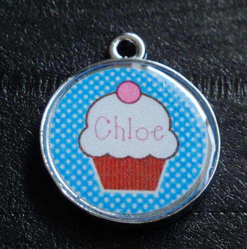 Cute Cupcakes no.1 Pet ID Tag w/ Pet's Name or Initial