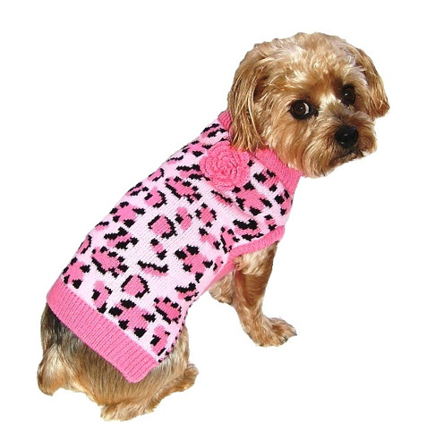 Dallas Dogs Pink Leopard Dog Sweater