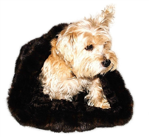 Brown Mink Plush Cozy Sak