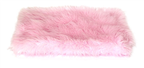 Pink Shag All Plush Crate Liner