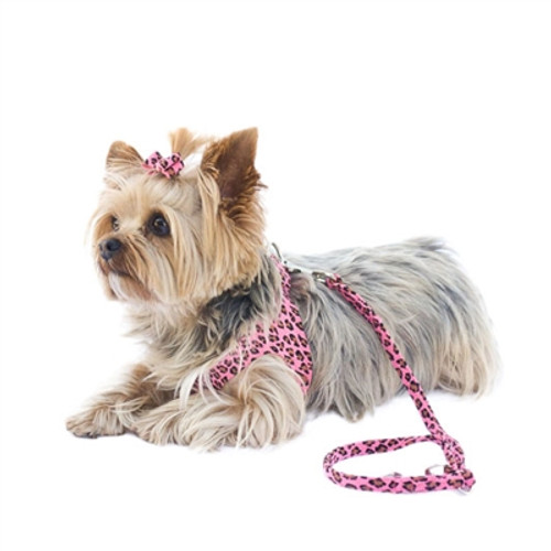Pink Leopard 4ft Ultra Suede Leash