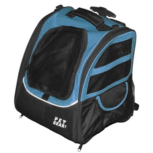 Pet Edge I-GO2 Traveler Dog Roller-Backpack - Ocean Blue