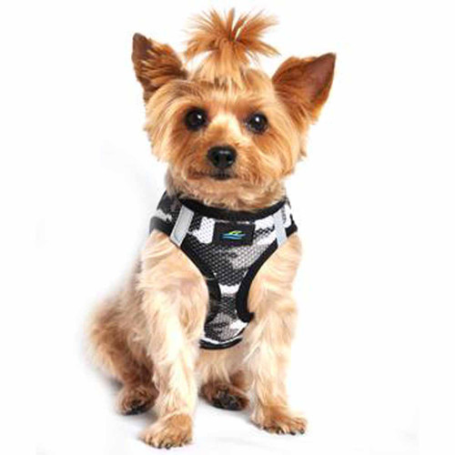 American River Dog Harness Camouflage Collection - Gray Camo