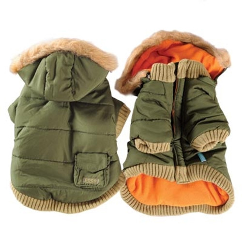 Green Pocket Parka