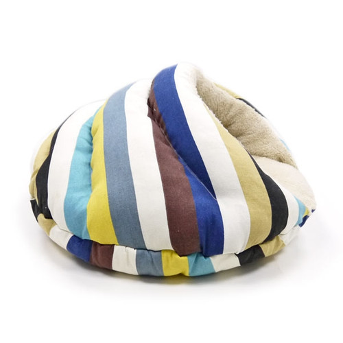 Burger Bed Blue Stripes