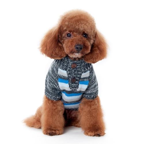 Marl Stripes Sweater Blue