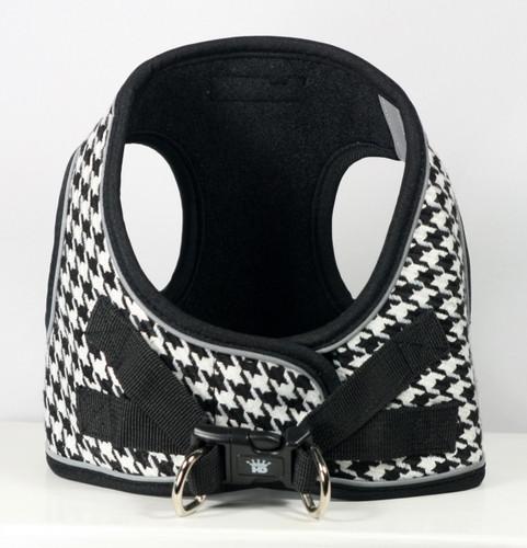 EZ Reflective Houndstooth Harness Vest - White/Black