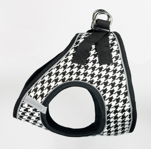 EZ Reflective Houndstooth Harness Vest - Black/White
